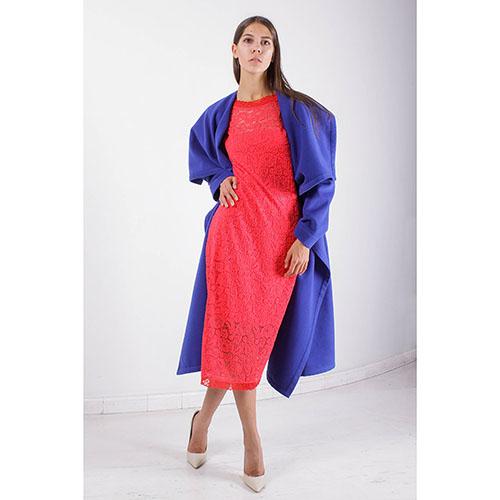 Пальто свободного кроя Plein SUD синего цвета, фото
