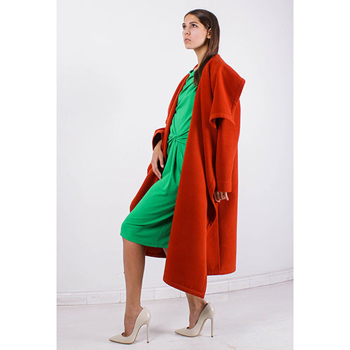 Пальто Plein SUD терракотового цвета, фото