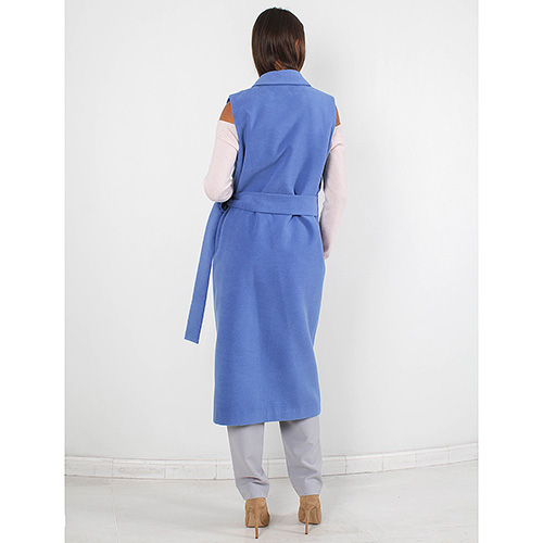 Пальто без рукавов FOREVER UNIQUE синего цвета, фото