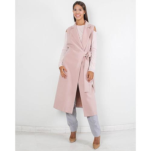 Пальто-жилет Plein Sud нежно-розового цвета, фото