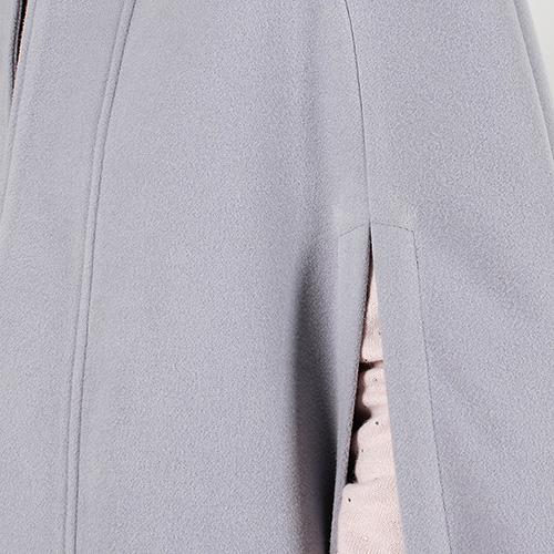 Пончо Plein Sud серо-голубого цвета, фото