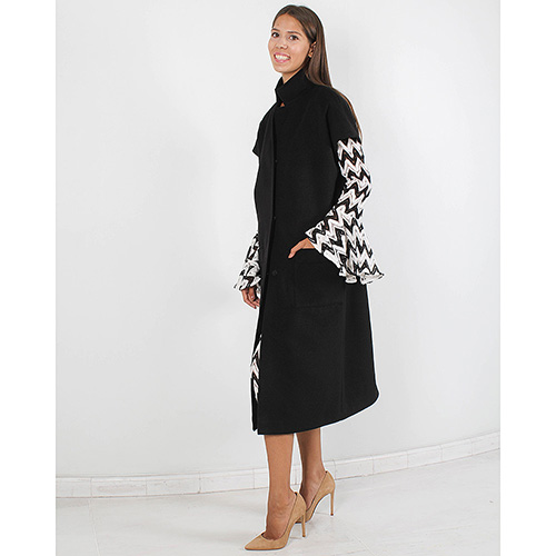 Пальто Plein Sud черного цвета с коротким рукавом, фото