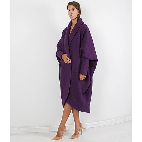 Пальто-оверсайз Forever Unique фиолетового цвета, фото