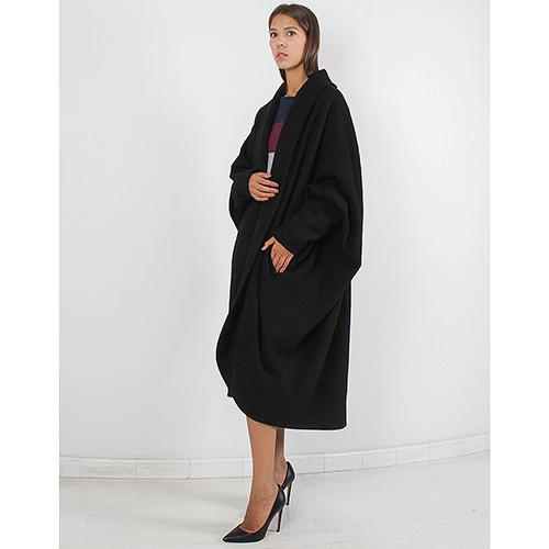 Пальто-оверсайз Forever Unique черного цвета, фото