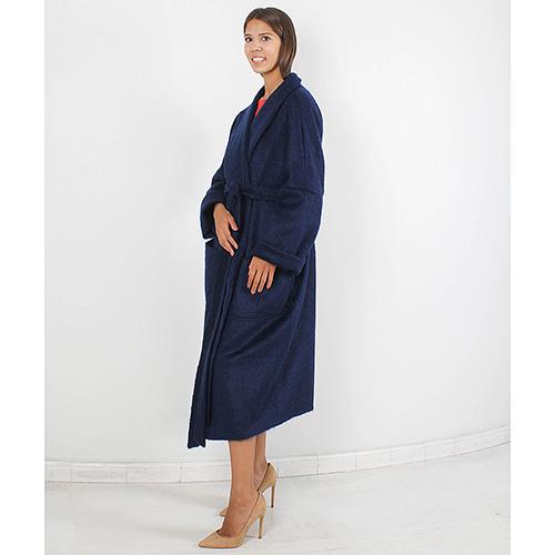 Шерстяное пальто Forever Unique синего цвета, фото