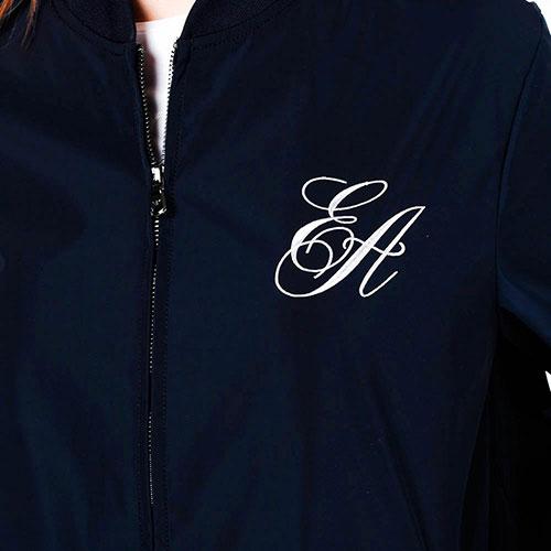 Синяя куртка Emporio Armani с завязками, фото