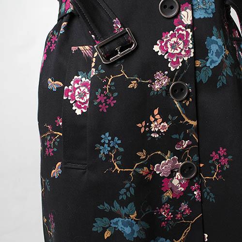Коттоновый плащ Fornarina с цветочным принтом, фото