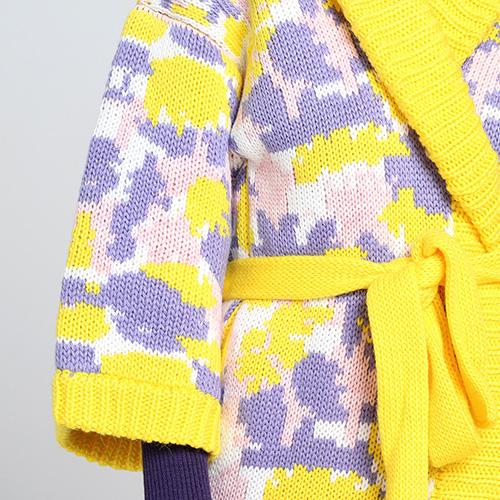 Длинное вязаное пальто Nit.ka с абстрактным узором, фото