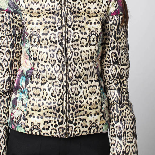 Куртка-пуховик Fracomina с анималистичным принтом, фото