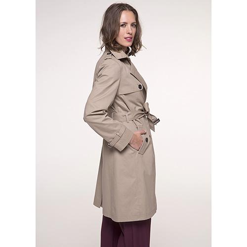 Тренч двубортный Trench & Coat бежевого цвета , фото