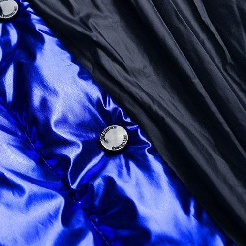 Синяя куртка Love Moschino с металлическим блеском, фото