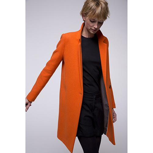 Пальто Trench & Coat двубортное оранжевого цвета, фото