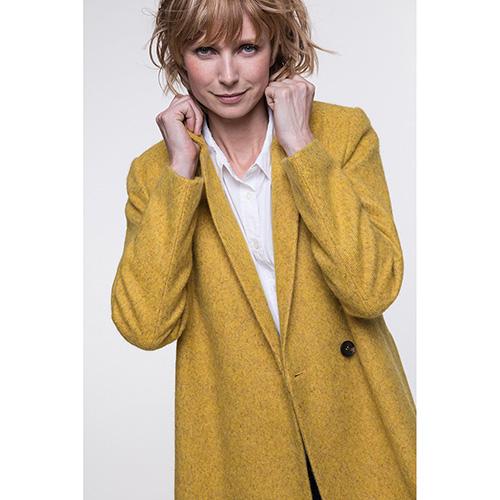 Двубортное пальто Trench & Coat с карманами желтого цвета, фото