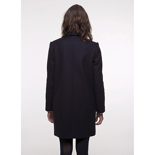 Пальто Trench & Coat прямого силуэта синего цвета, фото