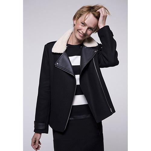 Пальто-косуха Trench & Coat черного цвета, фото