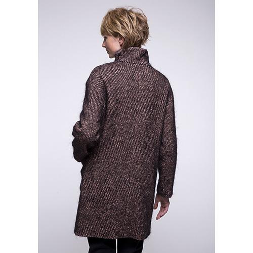 Пальто Trench & Coat с воротником стойкой коричневого цвета, фото