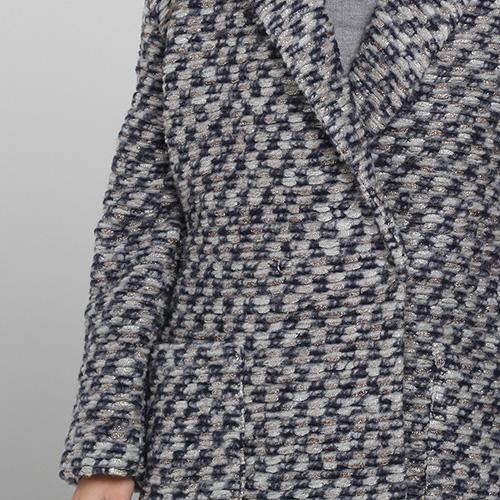 Серое пальто Blugirl Blumarine прямого кроя, фото