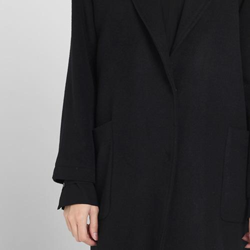 Длинное пальто Blugirl Blumarine с накладными карманами черного цвета, фото