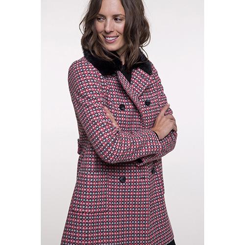 Пальто Trench & Coat со съемным воротником красного цвета, фото