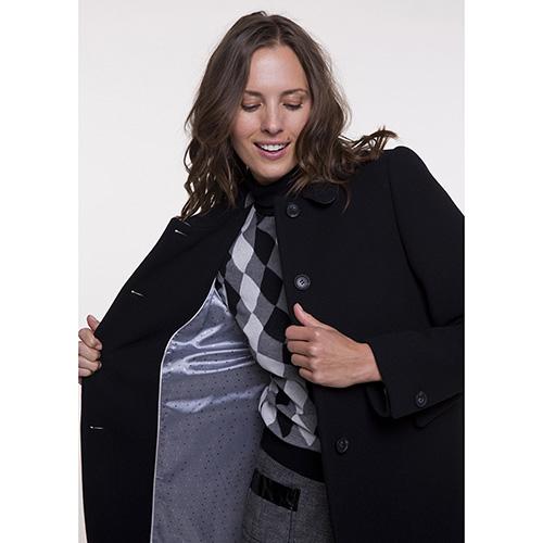Пальто двубортное Trench & Coat синего цвета, фото