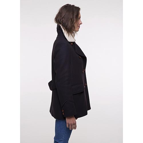 Пальто Trench & Coat со съемным воротником синего цвета, фото