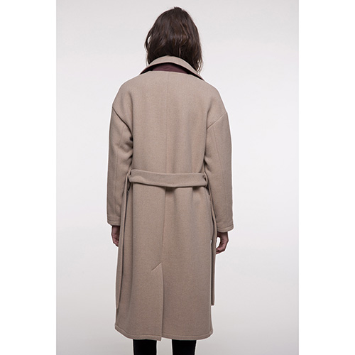 Пальто Trench & Coat прямого кроя бежевого цвета, фото