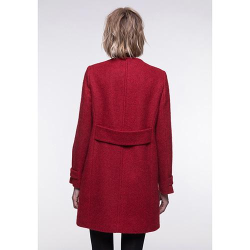 Пальто Trench & Coat прямого силуэта без воротника красного цвета, фото