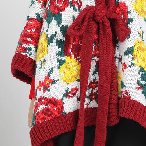 Яркое пончо Nit.ka с цветочным узором , фото