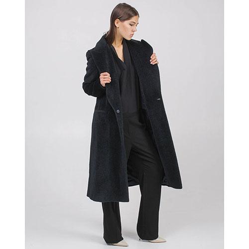 Демисезонное пальто Maison Margiela черного цвета, фото