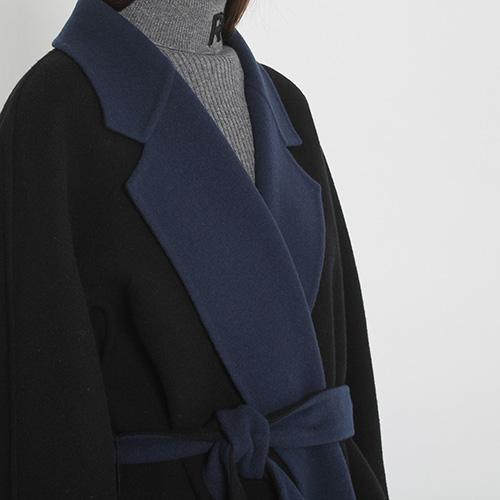 Шерстяное пальто Rochas с запахом, фото