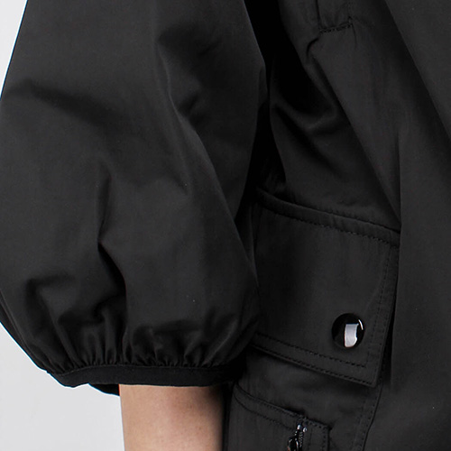 Черный плащ Red Valentino с накладными карманами, фото