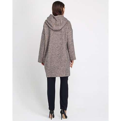 Пальто оверсайз Peserico с большими накладными карманами, фото