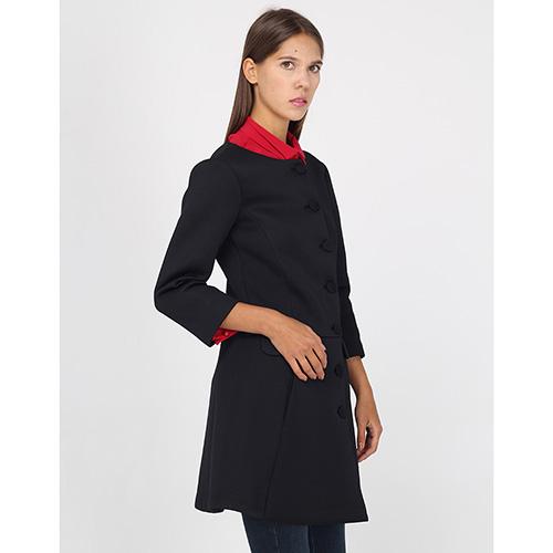 Пальто Emporio Armani на пуговицах с юбкой-трапецией, фото
