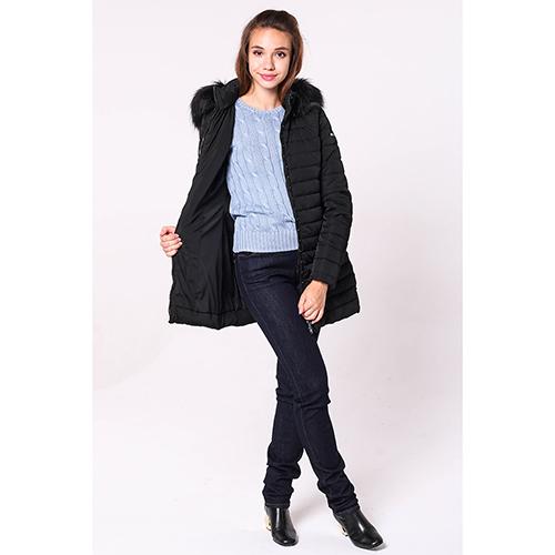 Куртка Emporio Armani черного цвета с капюшоном, фото