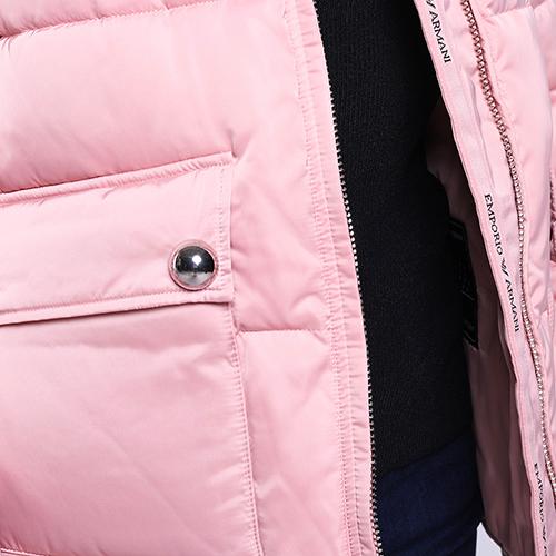 Розовая куртка Emporio Armani с капюшоном, фото