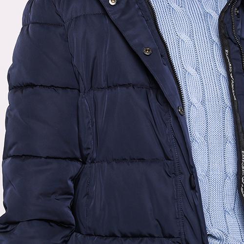 Темно-синяя куртка Emporio Armani с капюшоном, фото
