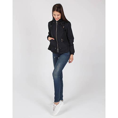 Куртка-ветровка Armani Jeans черного цвета, фото