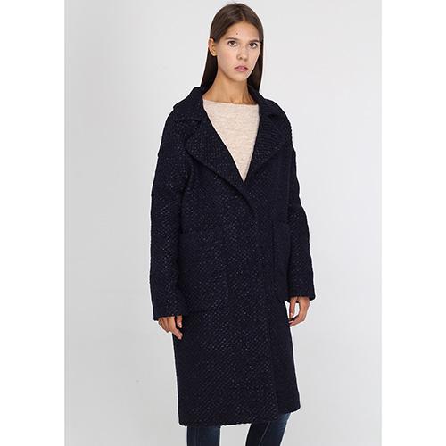 Пальто Herno прямого кроя синего цвета, фото