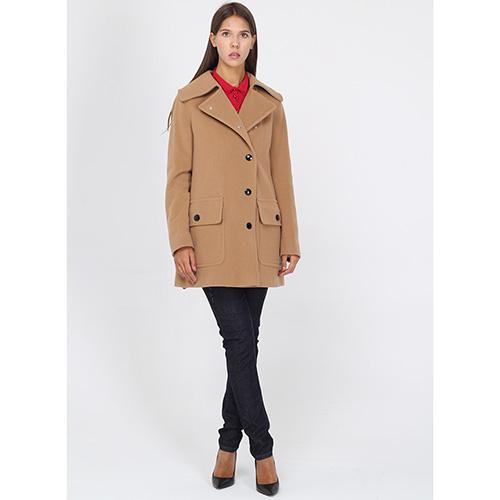 Бежевое пальто Bogner с крупными пуговицами, фото