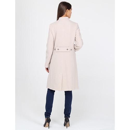 Пальто а-силуэта Armani Jeans бежевого цвета, фото