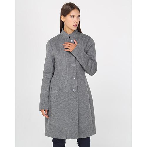 Приталенное пальто Armani Jeans серого цвета, фото