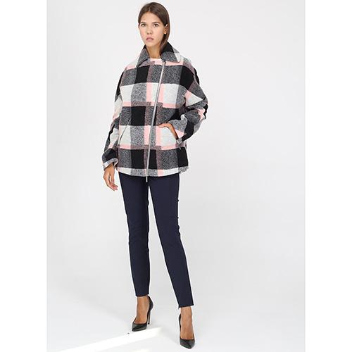 Пальто Armani Jeans в крупную серую клетку, фото