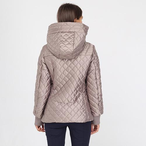 Стеганая куртка Ea7 Emporio Armani серого цвета, фото