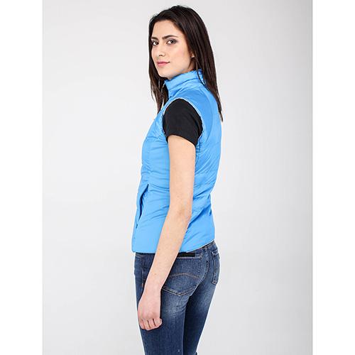 Пуховый жилет Ea7 Emporio Armani голубого цвета, фото