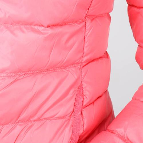 Стеганая пуховая куртка Ea7 Emporio Armani розового цвета, фото