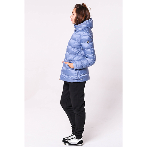 Синяя куртка Ea7 Emporio Armani с капюшоном, фото