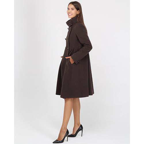 Шерстяное пальто Emporio Armani коричневого цвета, фото