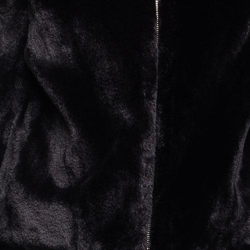 Черная куртка Twin-Set из искусственного меха, фото