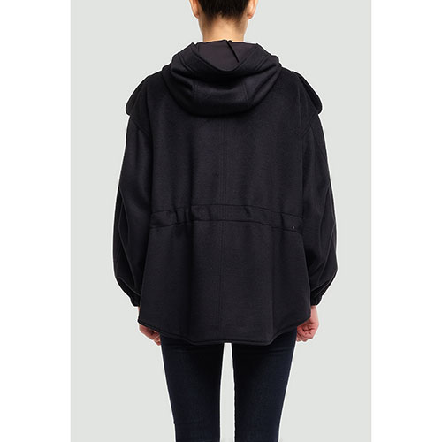 Черная куртка Twin-Set свободного кроя, фото