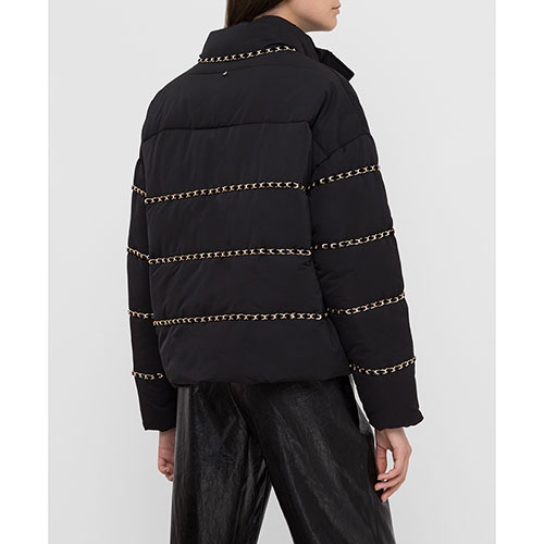 Черная куртка Twin-Set с декором-цепочками, фото